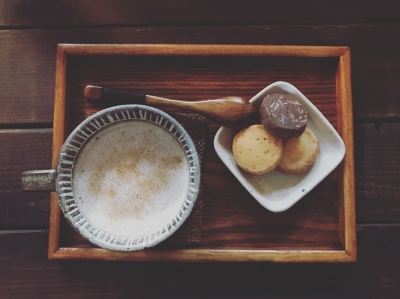 函館で海を眺めながらお茶。至福。
