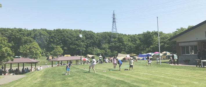 千歳市キャンプ場「防災の森」6月